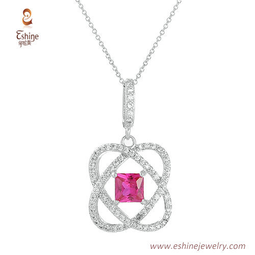 ST2114 - Ruby jewelry set with clear cz micropvae from jewel