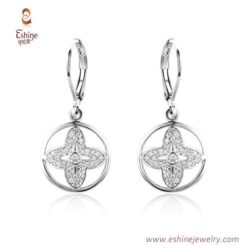 ST2143 - round & star center dangling jewelry set with micro