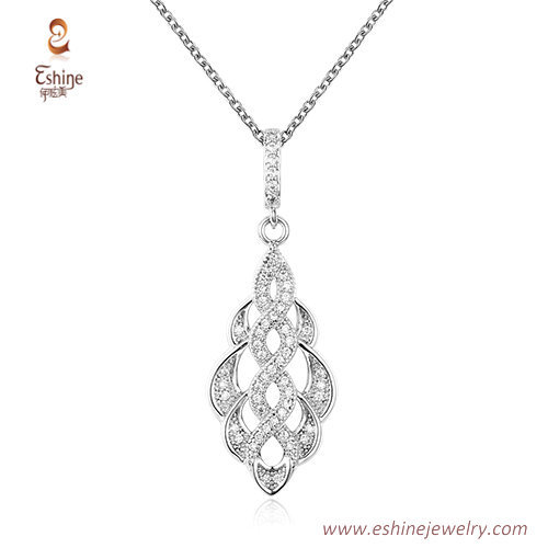 ST2150 - Marquise shape dangling jewelry set with micropave