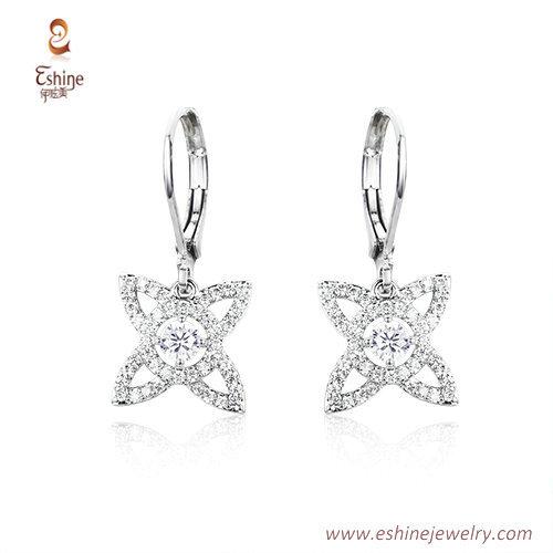 ST2155 - classic diamond style Cross shape dangling jewelry