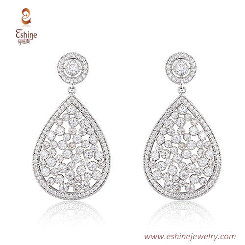 ST2173 - Full stars style teardrop shape dangling jewelry se