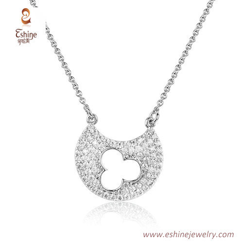 ST2190 - Cute hollow mickey microvpave clear Cubic zircon je