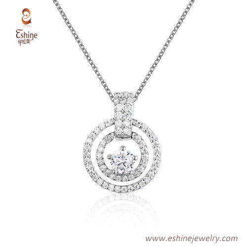 ST2202 - Round shape round cut clear Cubic zircon jewelry se