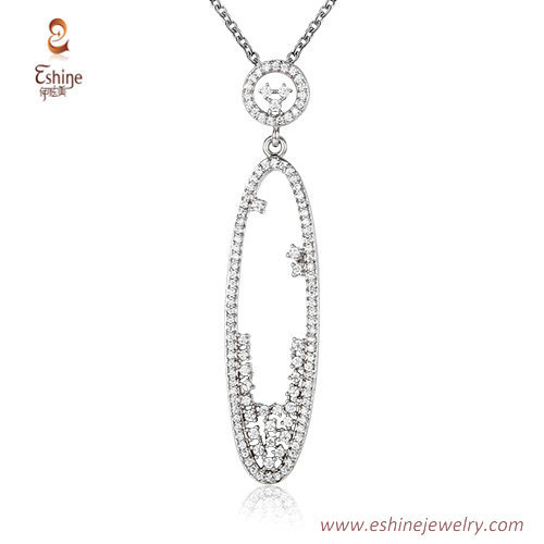ST2214 - Marquise shape round cut clear Cubic zircon jewelry