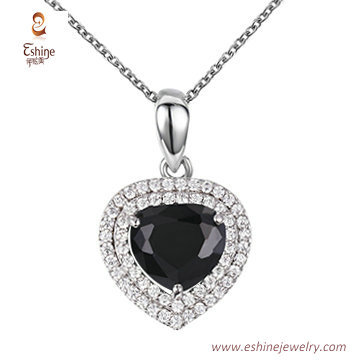 ST2227 -  Trillion cut Black Cubic zircon jewelry sets with
