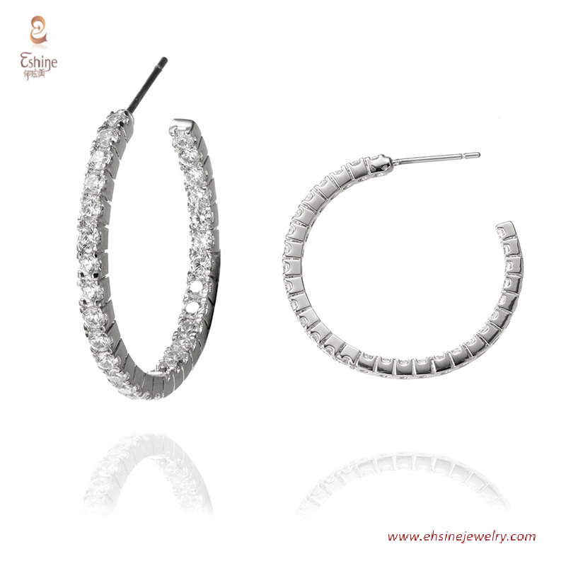 ER3600-30MM hoop earring collection - rose gold plating clea