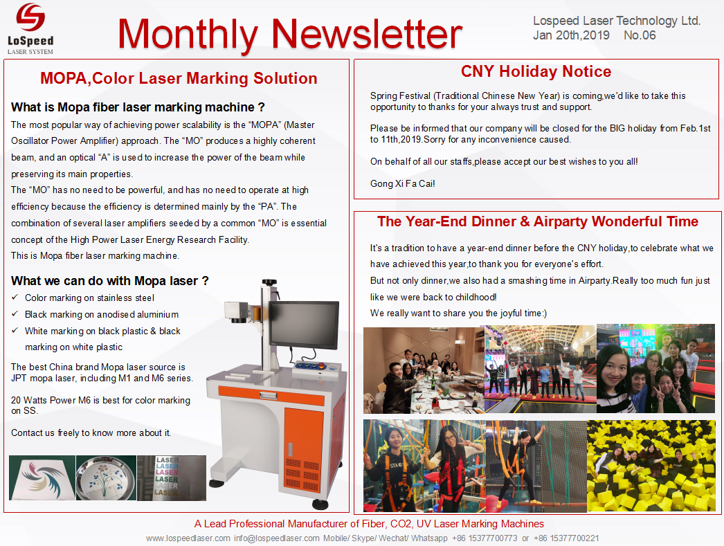 Monthly Newsletter January 2019