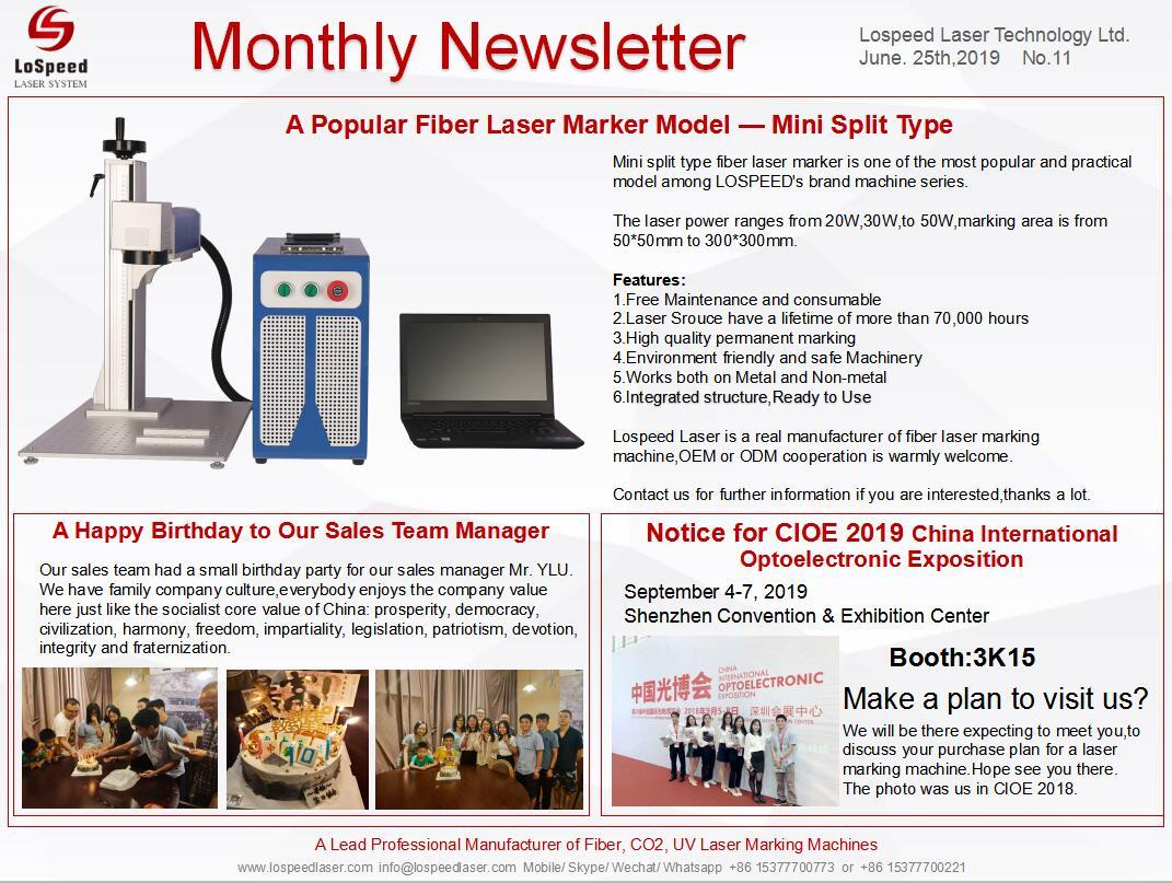 LoSpeed Monthly Newsletter-June 2019 comes! Thanks for your
