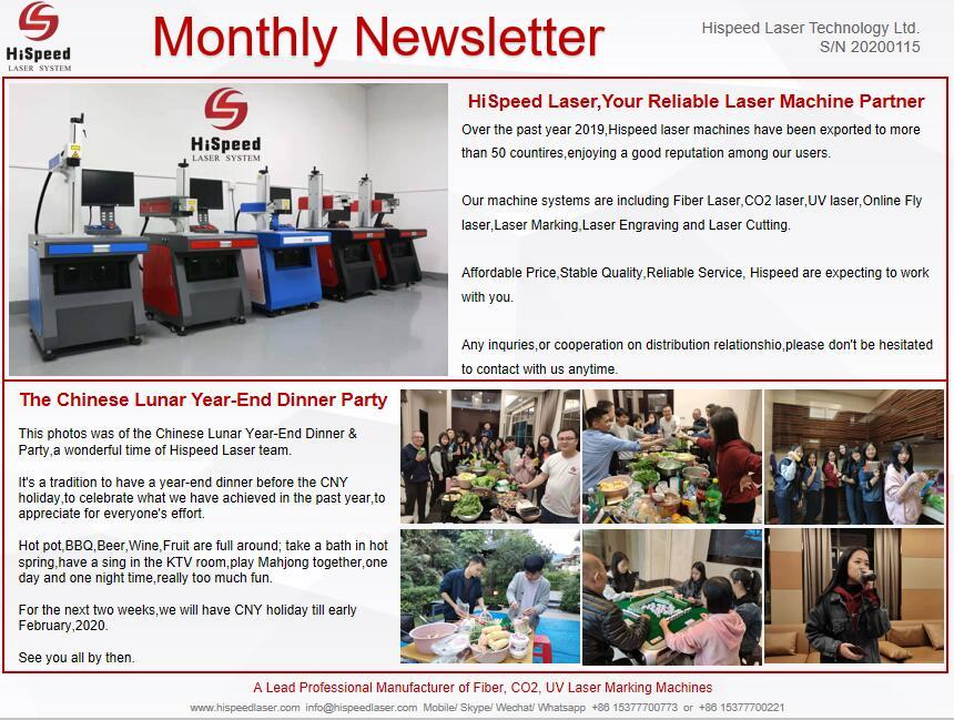 Monthly Newsletter- January.Thank you for your attention!