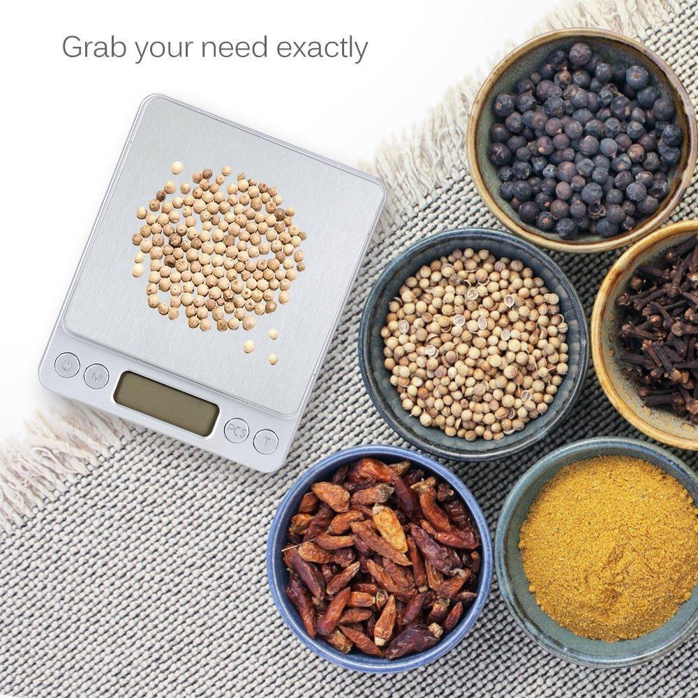 食品用marsboyデジタルポケットスケール、バックライト付LCDディスプレイとジュエリー
