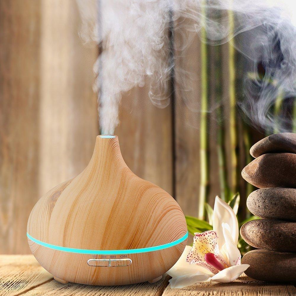 Aroma esencial marsboy 300 ml difusor del aceite del grano d