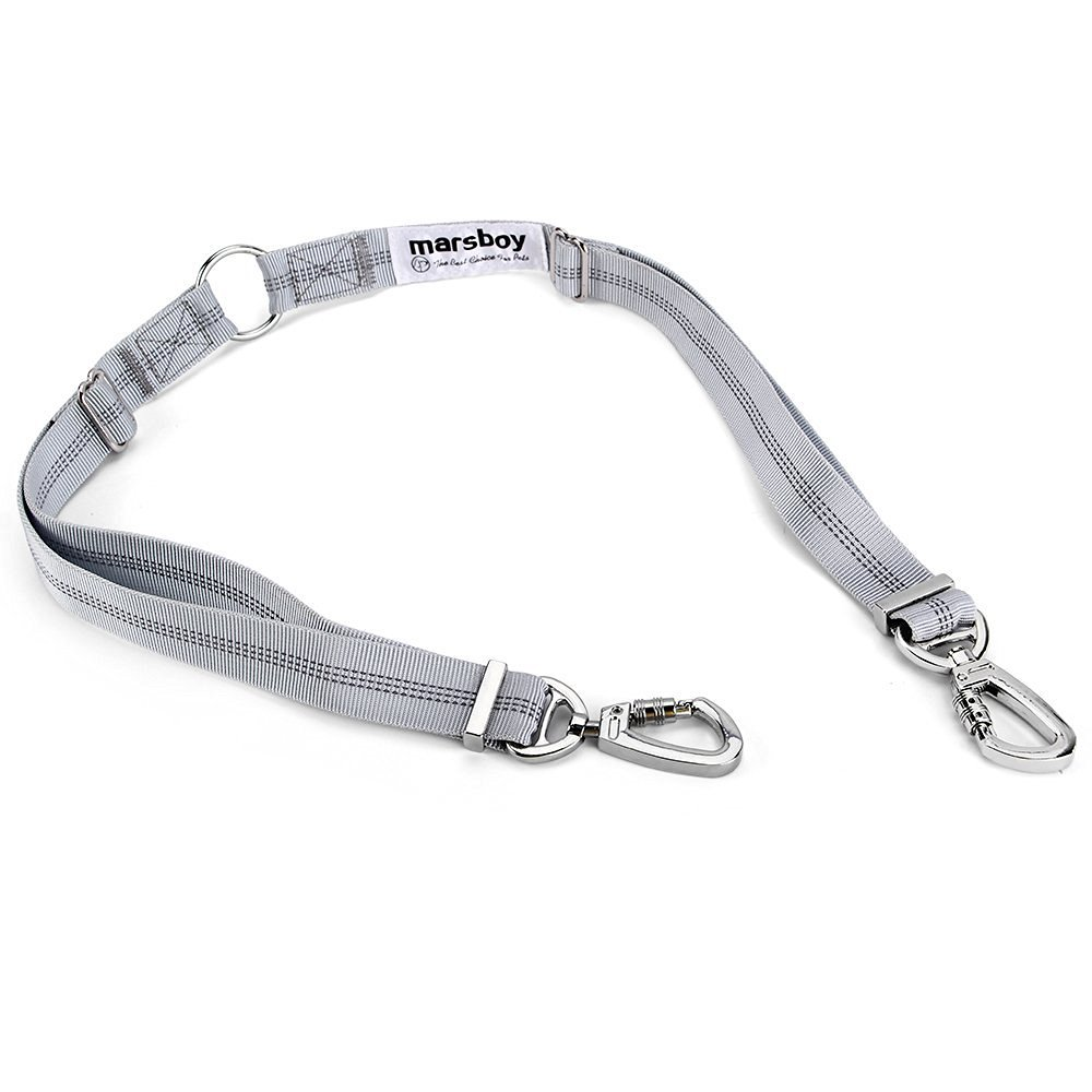 Leash marsboy Dog Double Coupler Tangle gratuit 2 en 1 pour