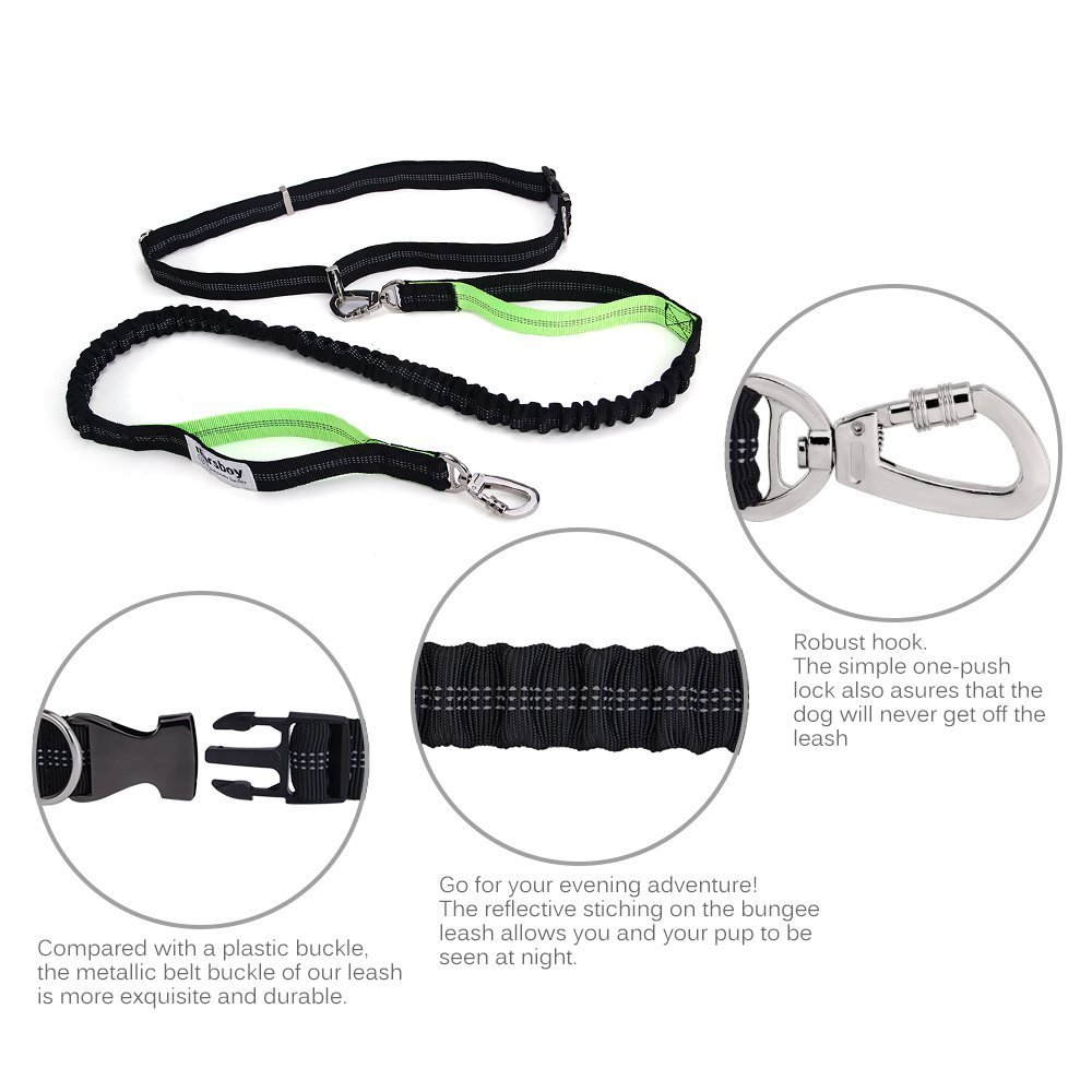 marsboy Running Dog Leash for Large Dogs with Pouch Extensio