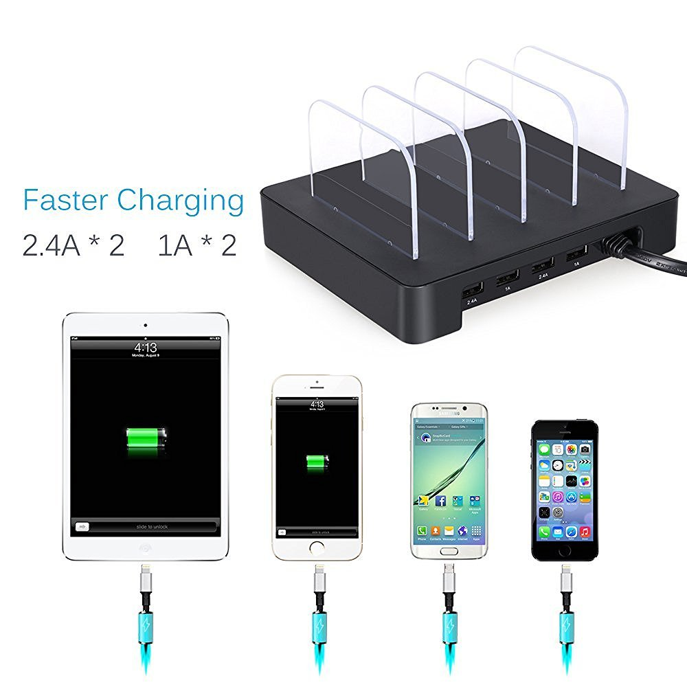 USB Charging Station Charging Dock 4-Port marsboy