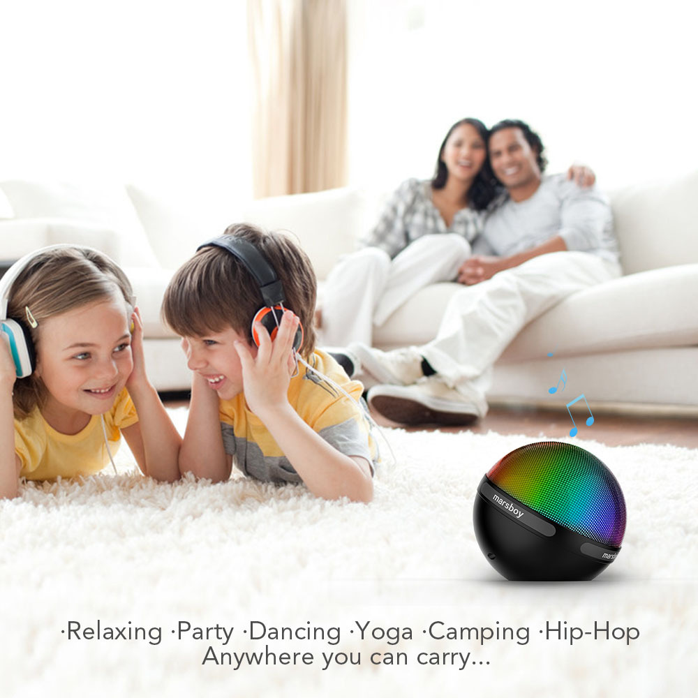 Marsboy Bluetooth Speaker with Color Changing Led Light, Gra