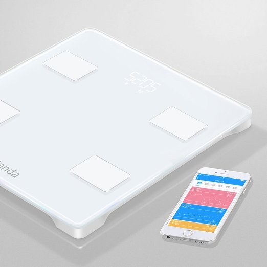 Yolanda Precision Smart Body Scale Bluetooth Tracks BMI BMR