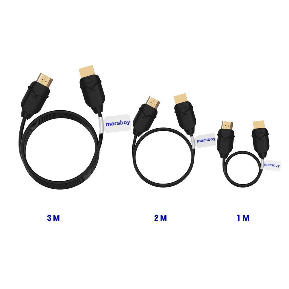 Marsboy HDMI to HDMI Cable, 3 Pack (1M+2M+3M) Gold Plated Hi