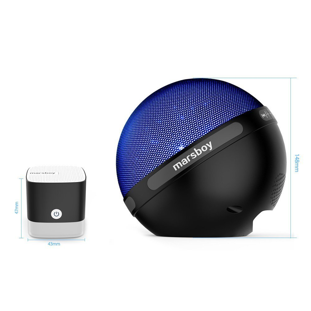 Marsboy wireless Bluetooth speaker portable illumination LED