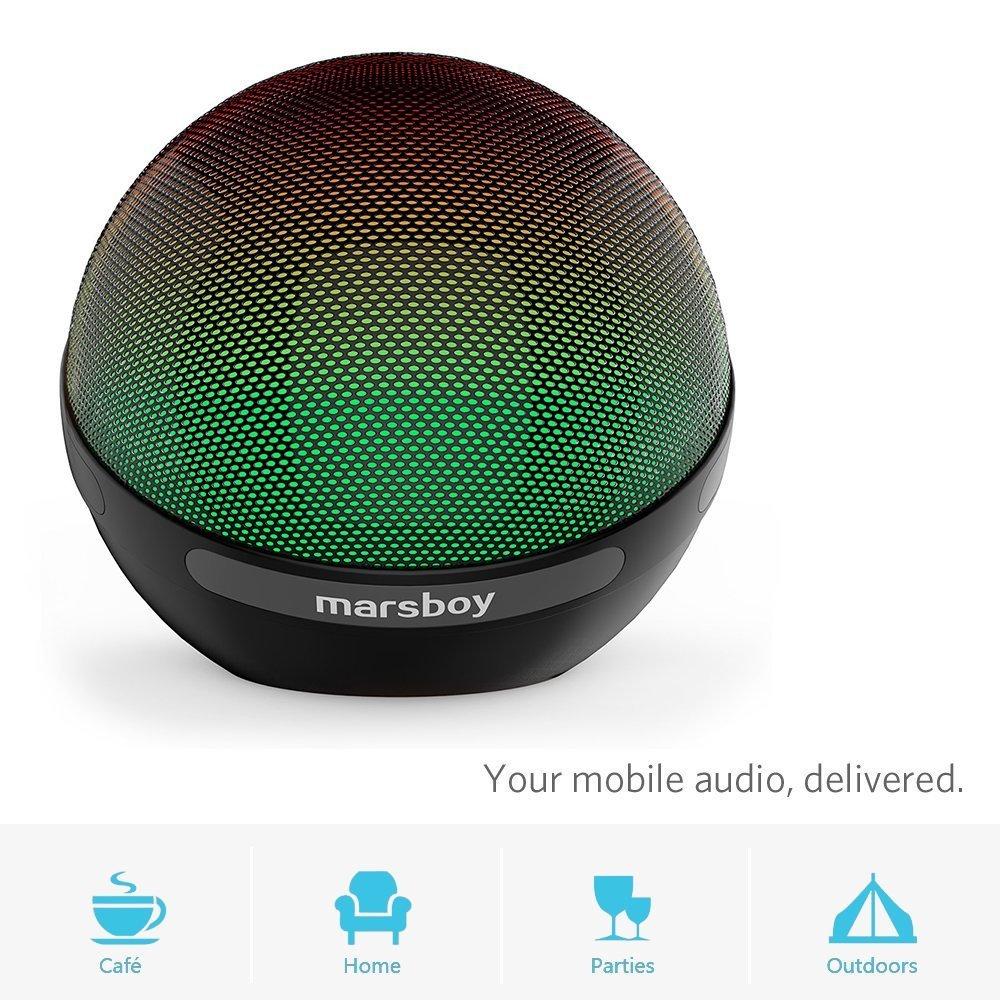 Marsboy Wireless Bluetooth Speaker Portable Illumination