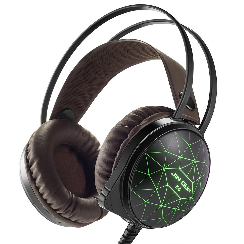 marsboy Gaming Headset mit Mikrofon LED-Headset für Xbox One