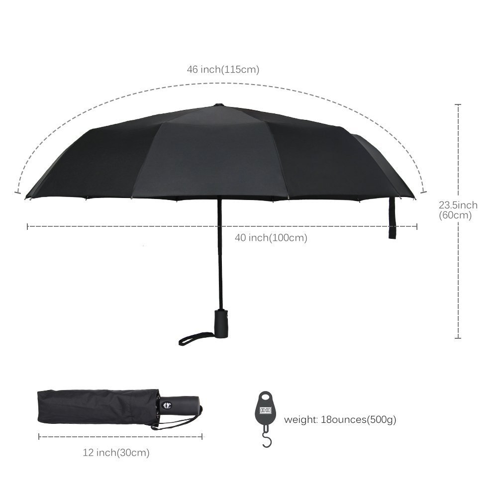 marsboy Windproof Automatic Travel Umbrella, Auto Open/Close