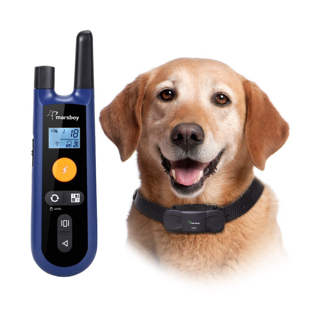 Dog Training Collar marsboy, recarregável e All-Weather resi