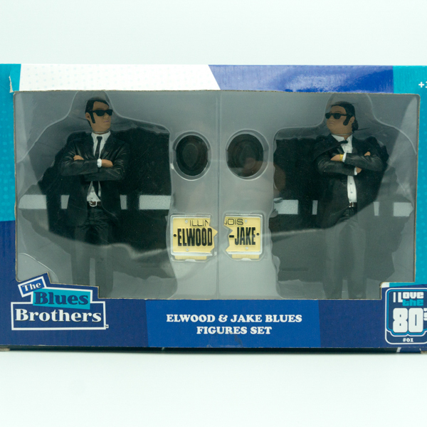 Vivid cartoon character blue brothers pvc figurines