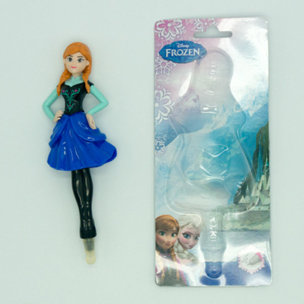 Education toys Frozen Anna shaped ball pen