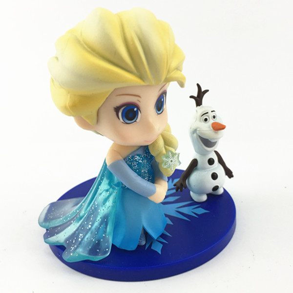 Customized Hot Selling Plastic Mini Frozen toy Elsa figurine