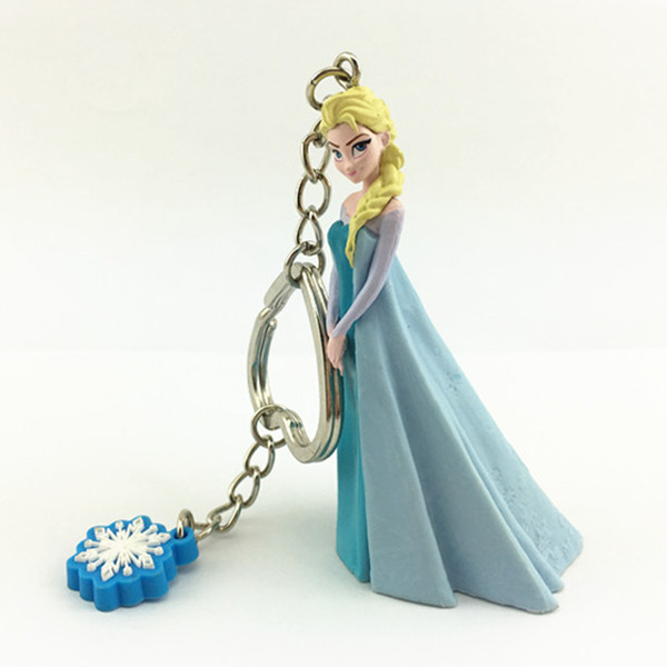 Hot Frozen Type 3D Elsa Figure Toy Keychain