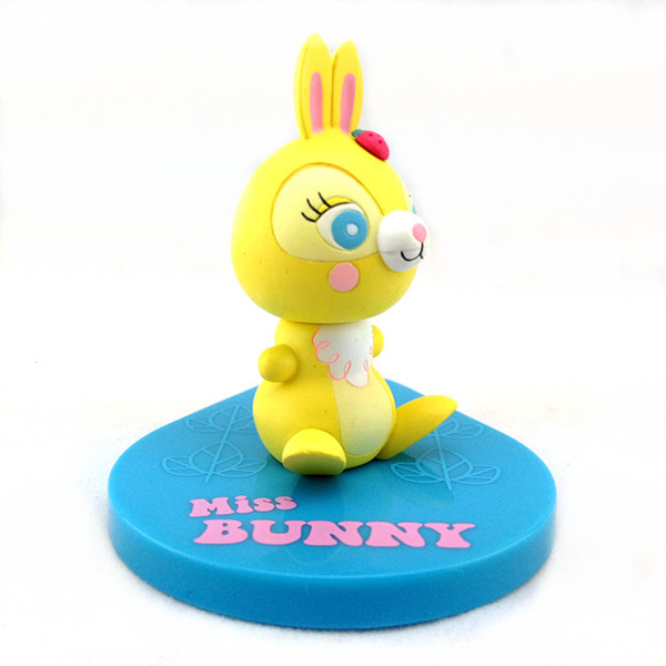 OEM factory plastic 3D cartoon rabbit figure with stamp