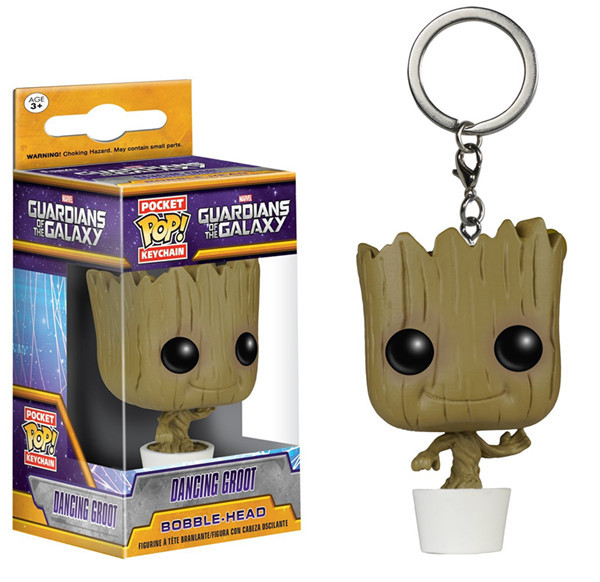 OEM factory funko pocket pop gotg groot keychain