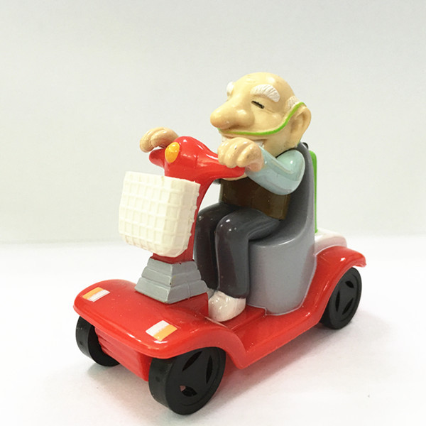 OEM Plastic Racing Grandad Figurine Toy