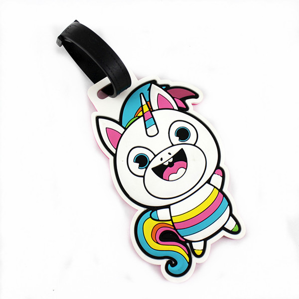 Cartoon personlized soft pvc travel luggage tags