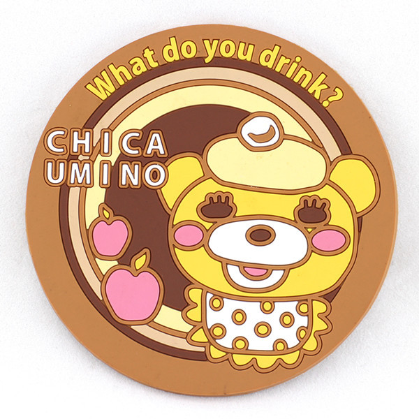 Cartoon shaped anti-slip silicone cup mat