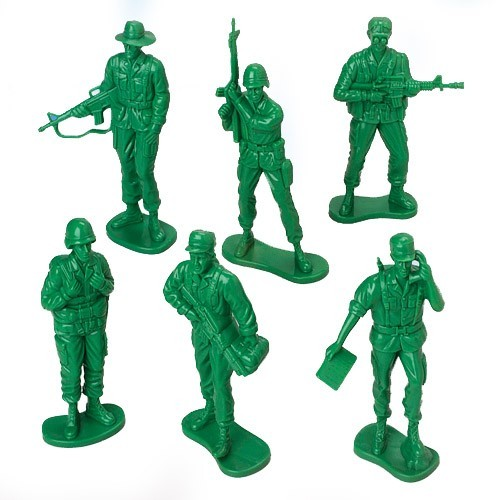 Army military play set plastic toy soldier