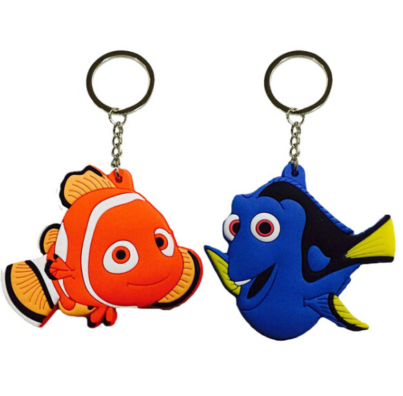 Nemo & Dory Fish Cartoon PVC Keychain