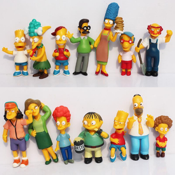 The Simpsons Action Figures PVC Toys