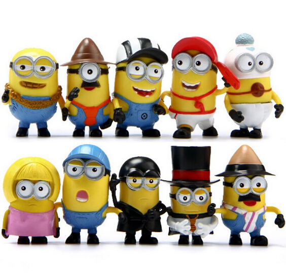 Minions small model doll plastic toy