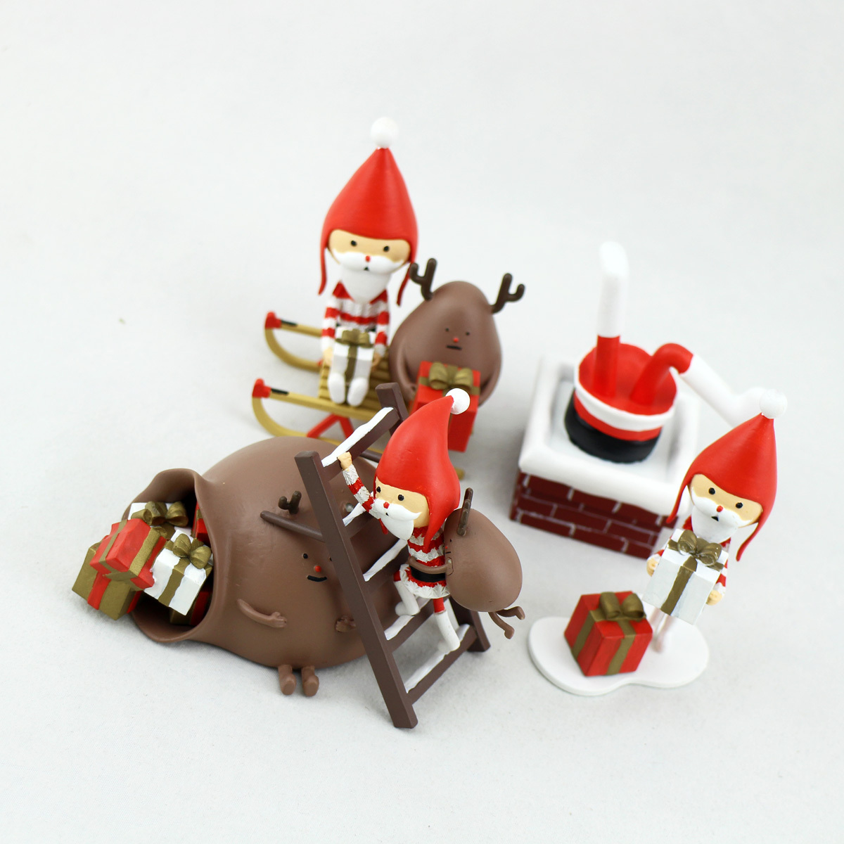 Plastic Christmas Santa Figurines & Promotion Gifts