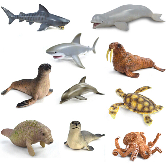 Plastic Ocean Animals Kids Toy Set