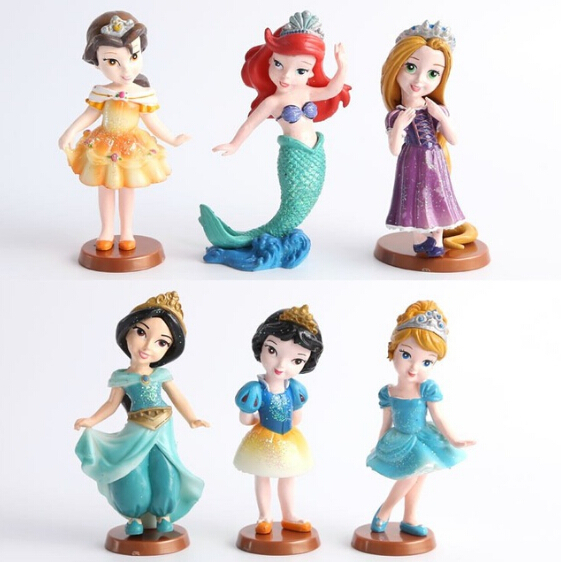 Disney Cartoon Toys Plastic Princess Figures