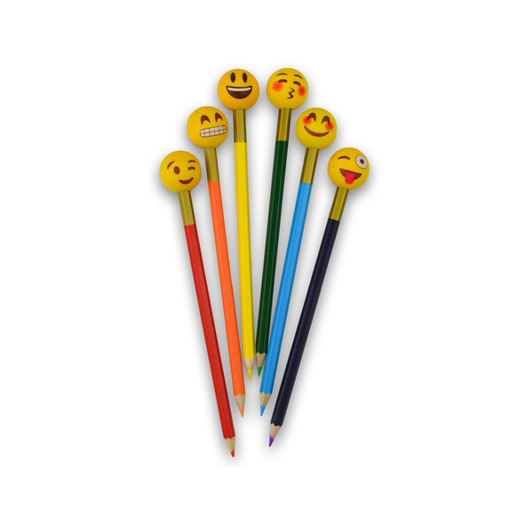 Emoji Pencil Eraser Toppers