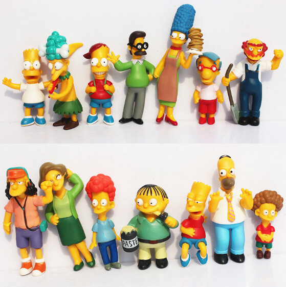 The Simpsons Family PVC Action Figure