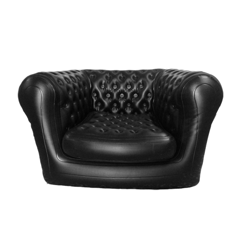 INFLATABLE CHESTERFIELD SOFA BLACK COLOR SOFA FOR EVENT