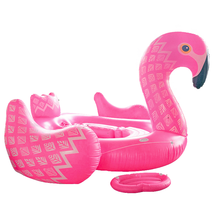 giant flamingo pool floats for 6 to 8 adults capacity