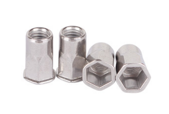 Inner-hex body rivet nut