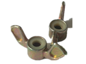 Zinc Alloy Wing Nut Nylon Insert Cast Zinc Alloy