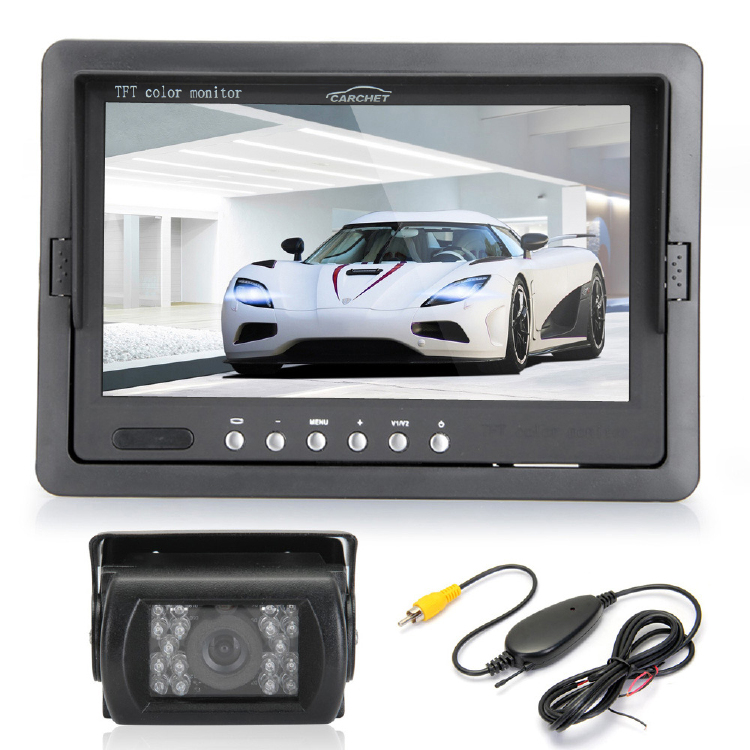 "7"" TFT LCD Display Car Rear View Monitor IR Reverse Backup 1"