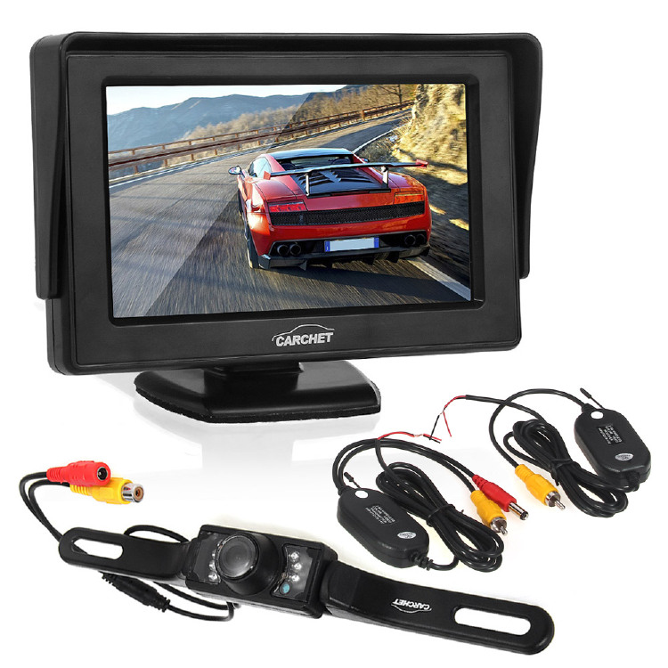 Car Rearview Camera 7 LED + Wireless Transmitter & Receiver